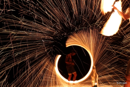 Fire Dancers are a regular feature of Koh Phi Phi's nightlife
